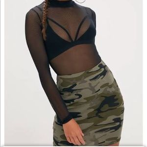 Khaki Cami mini skirt